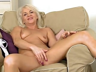 Supreme mature woman is playing mortal physically