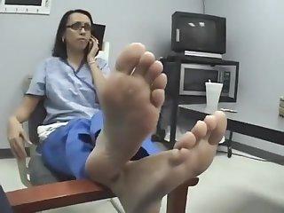 Nurse fingertips soles