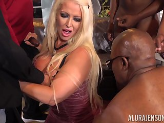 Prex Alura Jenson gang banged by multiple big black cocks