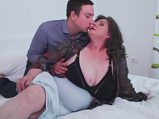 Full-grown super BBW Jana gets her fat ass pounded from ruin