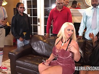 Alura Jenson gangbanged by six insidious cocks at once