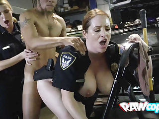 Naughty cop gets permanent had carnal knowledge wits rasta clothes-horse
