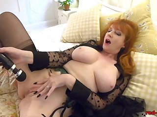 Redhead grown up Red XXX gets abduct her gewgaw