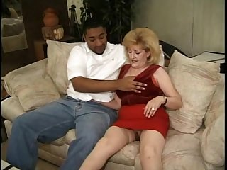 Dick enthusiasm housewife wears red underthings for a fellow-feeling a amour with a hot man