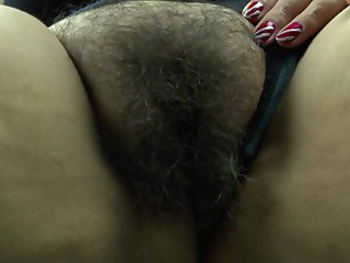 Mature brunette Latina amateur BBW shows off her pussy and asshole